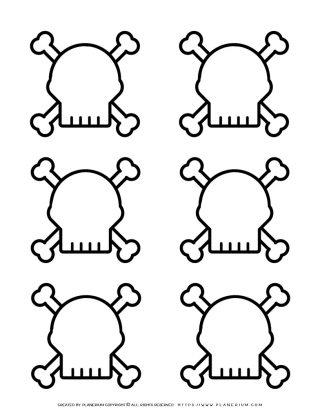 Halloween Template - Six Skulls | Planerium