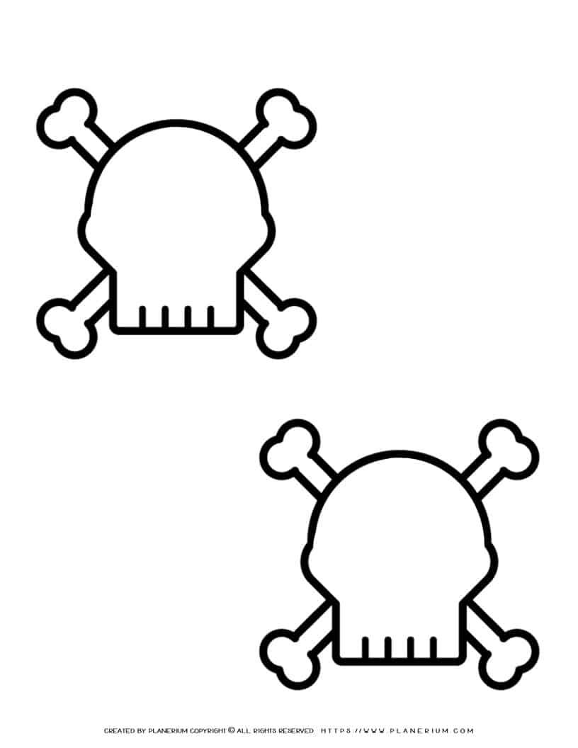 Halloween Template - Two Skulls | Planerium