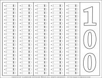100 Days of School – Coloring Page – 100 Pencils