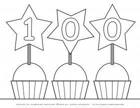 100 Days of School – Coloring page – Stars