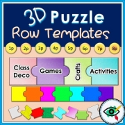 3D Puzzle Row Templates