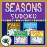 Four Seasons Image Sudoku Puzzle Games Bundle