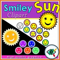 Summer – Clipart – Smiley Sun