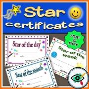 Star Rewarding Certificates
