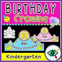 Birthday Craft – Crowns for Kindergarten