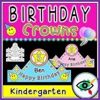 Birthday Craft – Crowns for Kindergarten