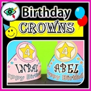 Birthday Crowns and Bracelets
