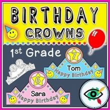 Birthday Crowns for First Grade