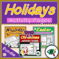 Christian Holidays – Worksheets – Bundle