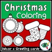 Christmas – Coloring Pack – Lights and Stockings