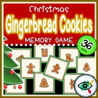 Christmas  – Matching Game – Gingerbread Cookies
