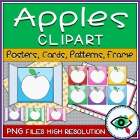 Fall Season – Clipart – Apple Cards and Patterns