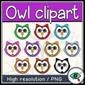 Fall Season – Clipart – Owl in Colors