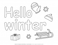 Winter season – Coloring pages – Hello Winter