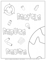 Earth day – Recycle Reduce and Reuse