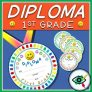 End of Year Rounded Diploma for First grade