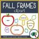 Fall Season – Clipart – 3D Frames