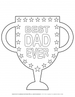 The Best Dad Ever Trophy