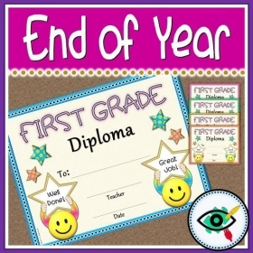 End of Year – Diploma for First grade