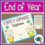 End of Year Diploma for First grade