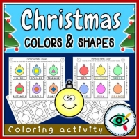 Christmas – Coloring Activity – Shapes and Colors