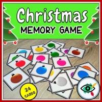 Christmas – Matching Game – Lightbulb Colors
