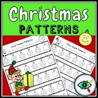 Christmas – Patterns – Lightbulb Shapes