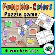 Pumpkin Colors Puzzle Game