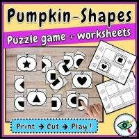 Fall Season – Puzzle – Pumpkin Shapes