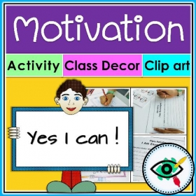 Clipart – Growth mindset Motivation activity – Bundle