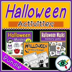 Halloween – Craft, Worksheets, Game – Bundle