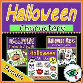 Halloween – Craft masks and Puzzle – Bundle