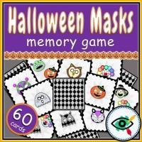 Halloween – Matching Game – Halloween Masks