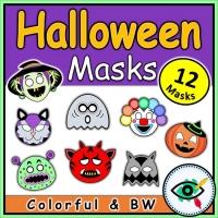 Halloween – Craft – 12 Halloween Masks