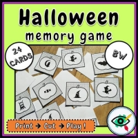 Halloween – Matching Game – Pumpkin Holiday Symbols