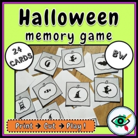 Halloween – Matching Game – Pumpkin Holiday Symbols