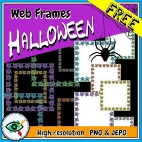 Halloween – Clipart – Spider Web Frames