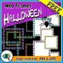 Halloween Spider Web Frames Clipart