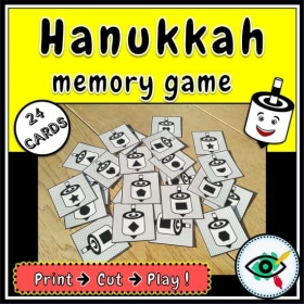 Hanukkah – Matching Game – Dreidels Shapes