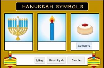 Hanukkah Word Matching