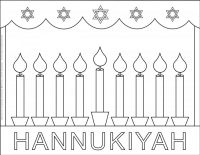 Hanukkah – Coloring pages – Menorah
