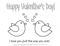Valentines day – Coloring pages – Love Birds
