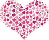 Valentine's day Hearts Memory Game