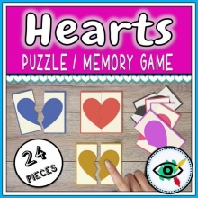 Heart Puzzle – Memory Game
