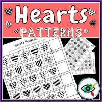 Valentines Day – Patterns – Hearts Black and White