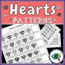 Hearts Patterns – Black & White