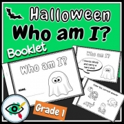 Halloween Booklet – Who Am I – Grade 1