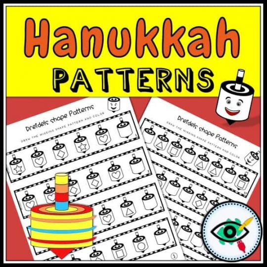 holiday-hanukkah-dreidel-shape-patterns-title