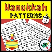 Hanukkah – Patterns – Dreidels Shapes
