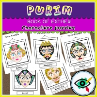 Purim – Puzzle – Book of Esther Characters